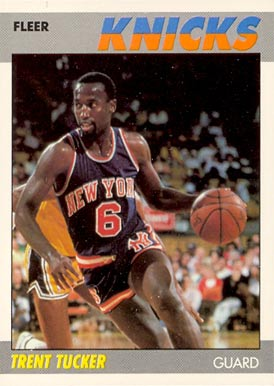 1987 Fleer Trent Tucker #113 Basketball Card