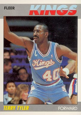 1987 Fleer Terry Tyler #114 Basketball Card