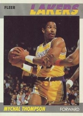 1987 Fleer Mychal Thompson #108 Basketball Card