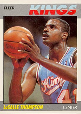 1987 Fleer Lasalle Thompson #107 Basketball Card