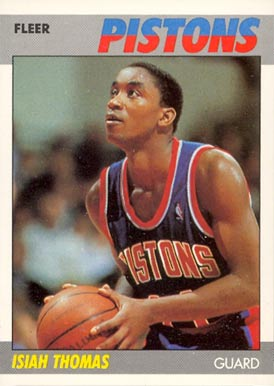 1987 Fleer Isiah Thomas #106 Basketball Card