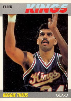 1987 Fleer Reggie Theus #105 Basketball Card