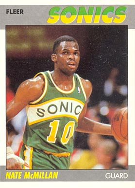 1987 Fleer Nate McMillan #75 Basketball Card