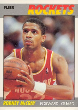 1987 Fleer Rodney McCray #72 Basketball Card