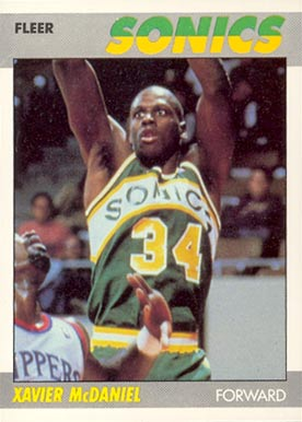 1987 Fleer Xavier McDaniel #73 Basketball Card