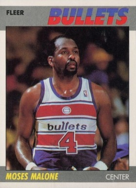 1987 Fleer Moses Malone #69 Basketball Card