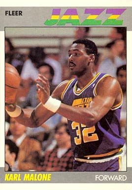 1987 Fleer Karl Malone #68 Basketball Card