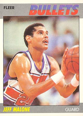 1987 Fleer Jeff Malone #67 Basketball Card