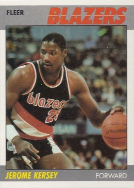 1987 Fleer Jerome Kersey #60 Basketball Card