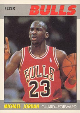 1987 Fleer Michael Jordan #59 Basketball Card