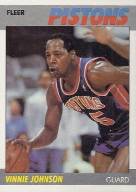 1987 Fleer Vinnie Johnson #58 Basketball Card