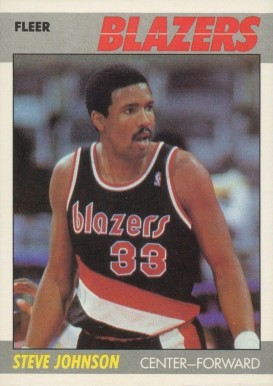 1987 Fleer Steve Johnson #57 Basketball Card