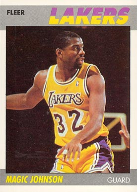 1987 Fleer Magic Johnson #56 Basketball Card