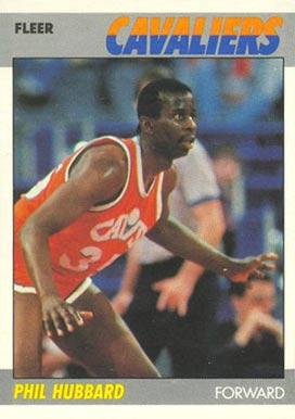 1987 Fleer Phil Hubbard #53 Basketball Card