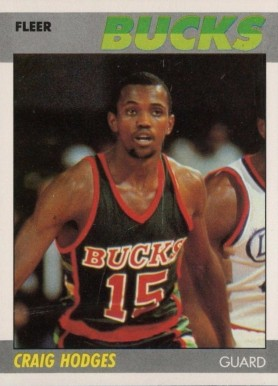 1987 Fleer Craig Hodges #52 Basketball Card
