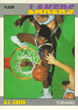 1987 Fleer A.C. Green #42 Basketball Card