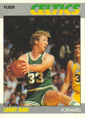 1987 Fleer Larry Bird #11 Basketball Card