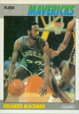 1987 Fleer Rolando Blackman #12 Basketball Card