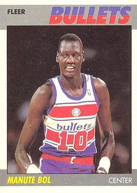 1987 Fleer Manute Bol #13 Basketball Card