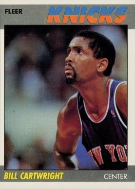 1987 Fleer Bill Cartwright #17 Basketball Card