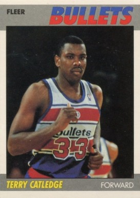 1987 Fleer Terry Catledge #18 Basketball Card