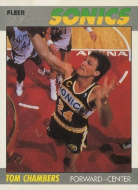 1987 Fleer Tom Chambers #19 Basketball Card
