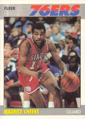 1987 Fleer Maurice Cheeks #20 Basketball Card