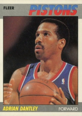 1987 Fleer Adrian Dantley #24 Basketball Card