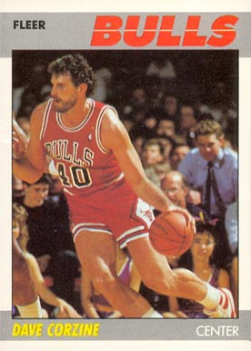 1987 Fleer Dave Corzine #22 Basketball Card