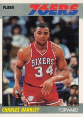 1987 Fleer Charles Barkley #9 Basketball Card