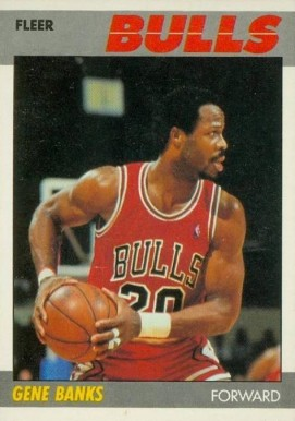 1987 Fleer Gene Banks #8 Basketball Card