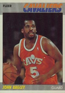1987 Fleer John Bagley #5 Basketball Card