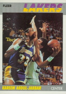 1987 Fleer Kareem Abdul Jabbar #1 Basketball Card