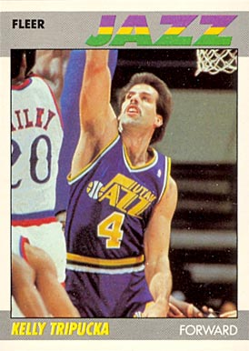 1987 Fleer Kelly Tripucka #112 Basketball Card