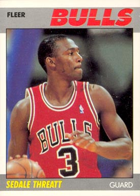 1987 Fleer Sedale Threatt #110 Basketball Card