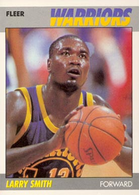 1987 Fleer Larry Smith #101 Basketball Card