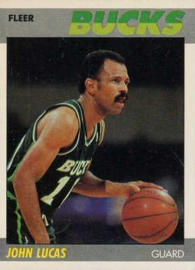 1987 Fleer John Lucas #66 Basketball Card