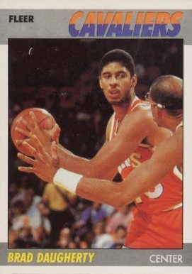 1987 Fleer Brad Daugherty #25 Basketball Card