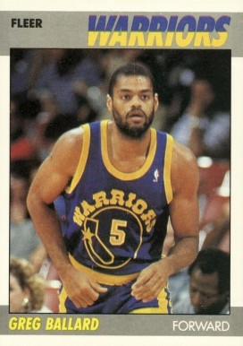1987 Fleer Greg Ballard #7 Basketball Card