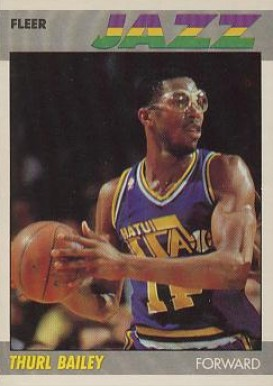 1987 Fleer Thurl Bailey #6 Basketball Card