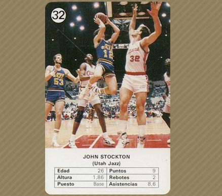 1988 Fournier John Stockton #32 Basketball Card