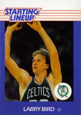 1988 Kenner Starting Lineup Larry Bird #8 Basketball Card