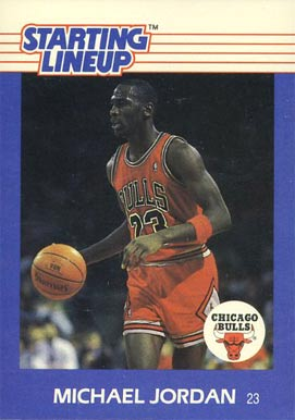1988 Kenner Starting Lineup Michael Jordan #40 Basketball Card
