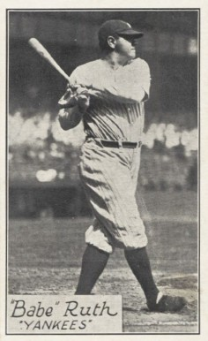 1928 R315 Babe Ruth #36 Baseball Card
