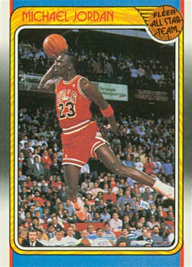 1988 Fleer Michael Jordan #120 Basketball Card