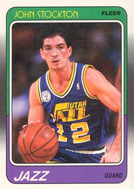 1988 Fleer John Stockton #115 Basketball Card