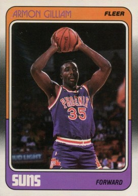 1988 Fleer Armon Gilliam #89 Basketball Card