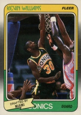 1988 Fleer Kevin Williams #72 Basketball Card