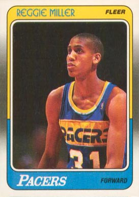 1988 Fleer Reggie Miller #57 Basketball Card
