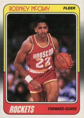 1988 Fleer Rodney McCray #52 Basketball Card
